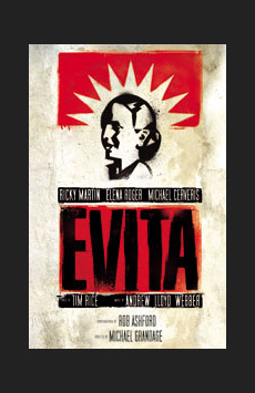 Evita,, NYC Show Poster