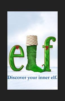 Elf, Al Hirschfeld Theatre, NYC Show Poster