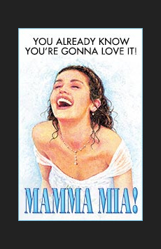 Mamma Mia! , Broadhurst Theatre, NYC Show Poster