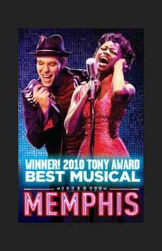 Memphis, Shubert Theatre, NYC Show Poster