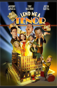Lend Me a Tenor, Music Box Theatre, NYC Show Poster