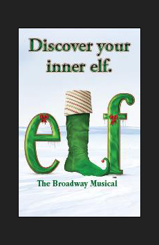Elf The Musical,, NYC Show Poster
