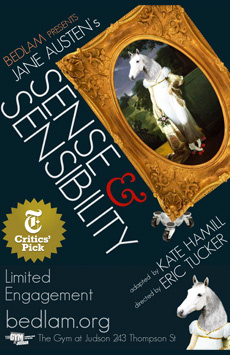 Sense and Sensibility, The Gym at Judson Memorial Church, NYC Show Poster