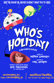 Who's Holiday, Westside Theatre Downstairs, NYC Show Poster