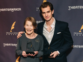 Three Tall Women's Glenda Jackson and Angels in America's Andrew Garfield celebrate their Drama Desk wins.