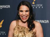Carousel's Lindsay Mendez is all smiles for her Drama Desk win.