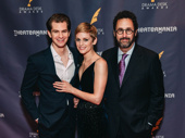 Angels in America's Andrew Garfield, Denise Gough and playwright Tony Kushner snap a pic.