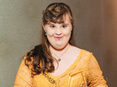 Jamie Brewer garnered the award for her New York stage debut in  Amy and the Orphans.