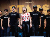 """Mean Girls star Taylor Louderman leads the ensemble in a performance of """"Someone Gets Hurt."""""""