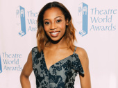Theatre World Award honoree and Once On This Island star Hailey Kilgore strikes a pose.