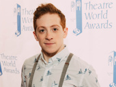 Ethan Slater earned his Theatre World Award for his splashy debut in SpongeBob SquarePants.