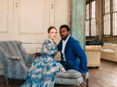 Carousel's leading couple Jessie Mueller and Joshua Henry shot by Caitlin McNaney for our feature on the Tony-nominated cast.
