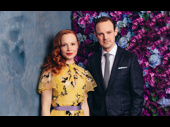 My Fair Lady stars Lauren Ambrose and Harry Hadden-Paton shot by Emlio Madrid-Kuser at the show's opening night party.