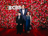 Executive Vice President of the Nederlander Organization Nick Scandalios is receiving a special Tony Award this year. He takes a sweet photo with his children Luke and Kate.