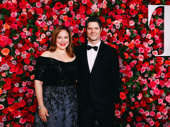SpongeBob SquarePants' Tony-nominated orchestrator Tom Kitt and his wife Rita Pietropinto snap a sweet pic.