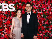 Carousel's Tony-nominated choreographer Justin Peck and guest snap a photo.