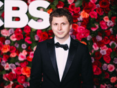 Lobby Hero Tony nominee Michael Cera snaps a photo.