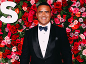 Christopher Jackson is all smiles to be back at the Tony Awards.