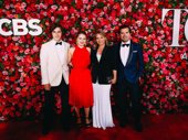 Special Tony recipient John Leguizamo enjoys the 72nd annual Tony Awards with his wife Justine Maurer and their children Ryder and Allegra Sky.