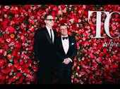 Angels in America Tony nominee Nathan Lane and his husband Devlin Elliott step out.
