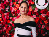 Three Tall Women's Laurie Metcalf poses on the carpet.