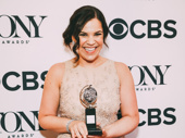Carousel's Lindsay Mendez displays her Tony for Best Featured Actress in a Musical.