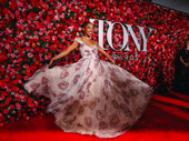 Once On This Island Tony nominee Hailey Kilgore floats along the red carpet.