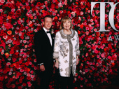 My Fair Lady Tony nominee Dame Diana Rigg and guest hit the red carpet.