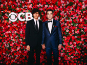 The Boys in the Band star Zachary Quinto and his partner Miles McMillan attend the 72nd annual Tony Awards.