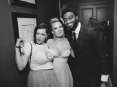 Crazy Ex-Girlfriend's Rachel Bloom hangs with Frozen's Patti Murin and Jelani Alladin.