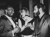 Broadway's Brendon Victor Dixon, Kate Baldwin and Colin Donnell pal around at the Carlyle.