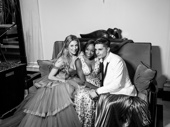 Les Miserables reunion! Frozen's Caissie Levy, Tony winner Nikki M. James and Andy Mientus get comfy.