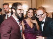 Host Josh Groban laughs with Mean Girls nominee Ashley Park and Broadway alum Jesse Tyler Ferguson.