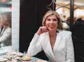 Christine Baranski stuns in white.