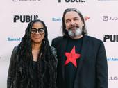 Tony nominated playwright Suzan-Lori Parks with her partner, Christian Konopka.