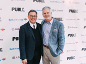 Four-time Tony nominated director Michael Greif poses with CSI: Crime Scene Investigation actor Gerald McCullouch.