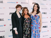 Photographer Rachel Sussman and Once On This Island producer Yael Silver pose with Parkland drama teacher and special Tony Award winner Melody Herzfeld.