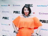 Actress Bethany Kay shows us how to pose on the carpet.