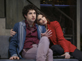 Eli Gelb as Benjamin and Idina Menzel as Jodi in Skintight.