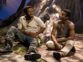 Chinaza Uche as Henry and Sheldon Best as James in Sugar in Our Wounds.