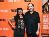 Playwright Suzan Lori-Parks and husband Paul Oscher step out in honor of Young Jean Lee's Straight White Men.