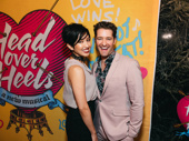 Renee Puente and Matthew Morrison spend date night at the Broadway opening of Head Over Heels.