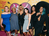 Joslyn DeFreece, makeup artist M Alsondo, Laverne Cox, Trace Lysette, Deja Smith and Mila Jam celebrate Peppermint's historic performance in Head Over Heels.
