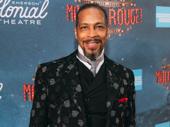 Moulin Rouge! ensemble member Kevyn Morrow hits the red carpet.