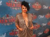 Moulin Rouge! ensemble member Jacqueline Barnold arrives.