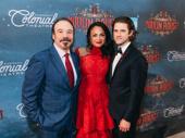 Moulin Rouge stars Danny Burstein, Karen Olivo and Aaron Tveit celebrate.