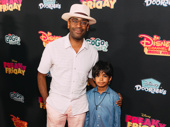 Hamilton star Daniel Breaker brings son Rory Breaker on the red carpet.