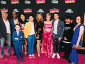 Freaky Friday director Steve Carr and cast members Alex Désert, Jason Maybaum, Kahyun Kim, Marlowe Percival, Heidi Blickenstaff, Cozi Zuehlsdorff, Ricky He, Isaiah Lehtinen and Jennifer LaPorte huddle up.