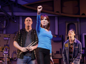 """Paul Whitty as Sully Sullivan, Marilu Henner as Sharon Papadopolous and Sawyer Nunes as Ricky """"Bling"""" Goldstein in Gettin' the Band Back Together."""