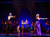 Eric Anderson as Mr. Thompson, Samantha Barks as Vivian Ward, Andy Karl as Edward Lewis, Anna Eilinsfeld as Scarlet and the company of Pretty Woman: The Musical.
